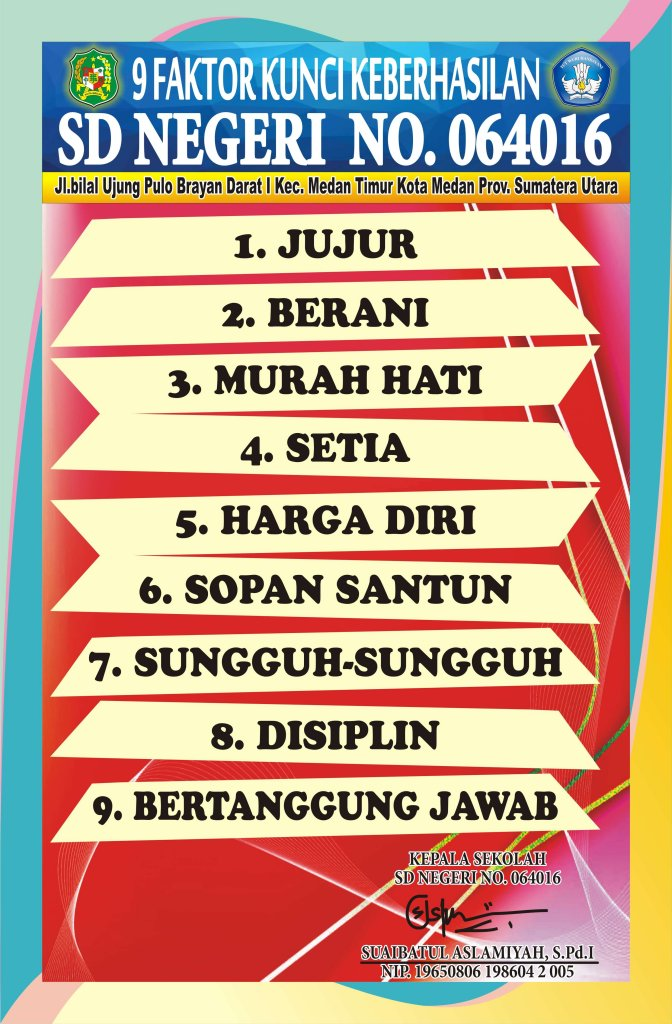 papan data 9 kunci