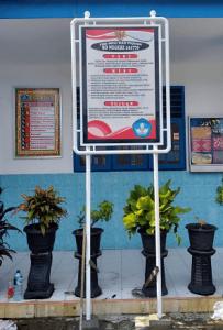 Plang Sekolah Single Tempel Standart