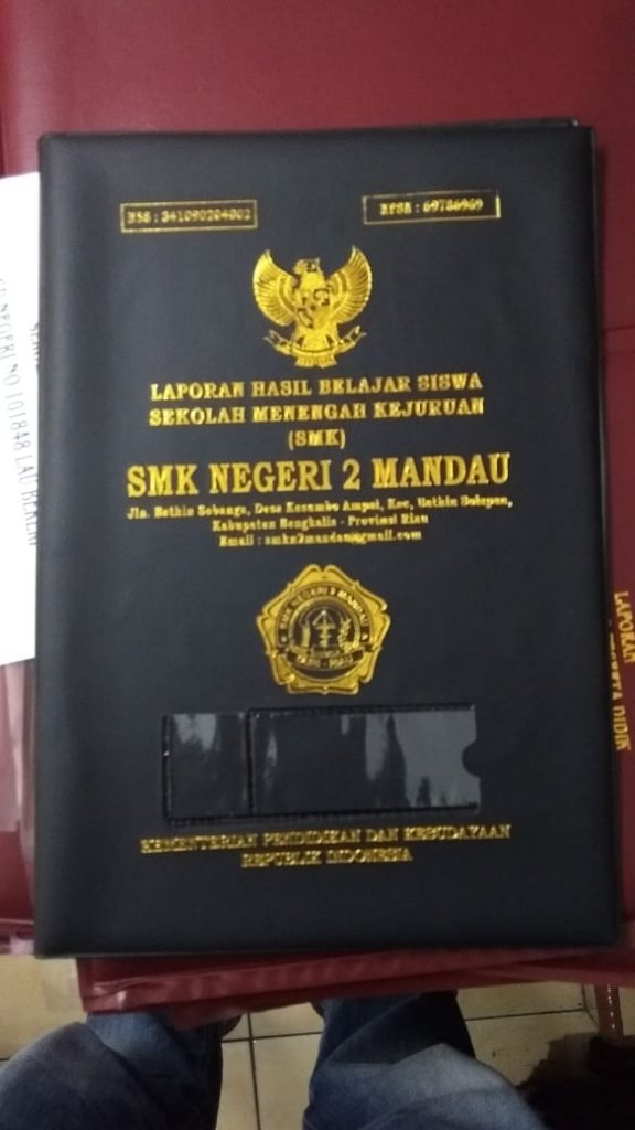 Sampul Raport SMKN 2 Mandau