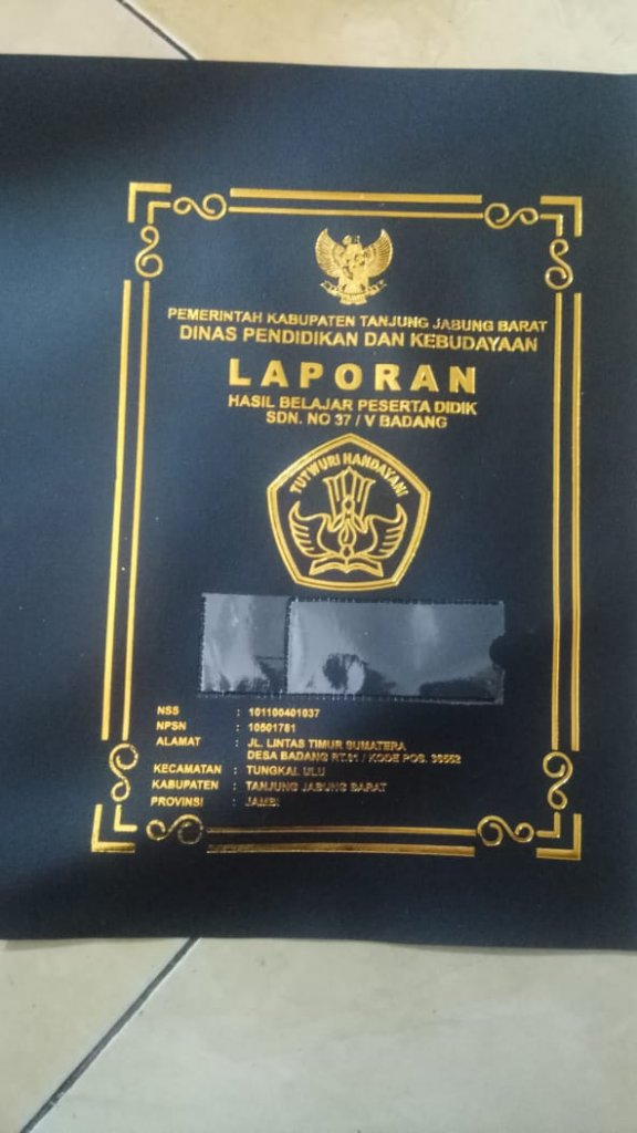 sampul raport jambi
