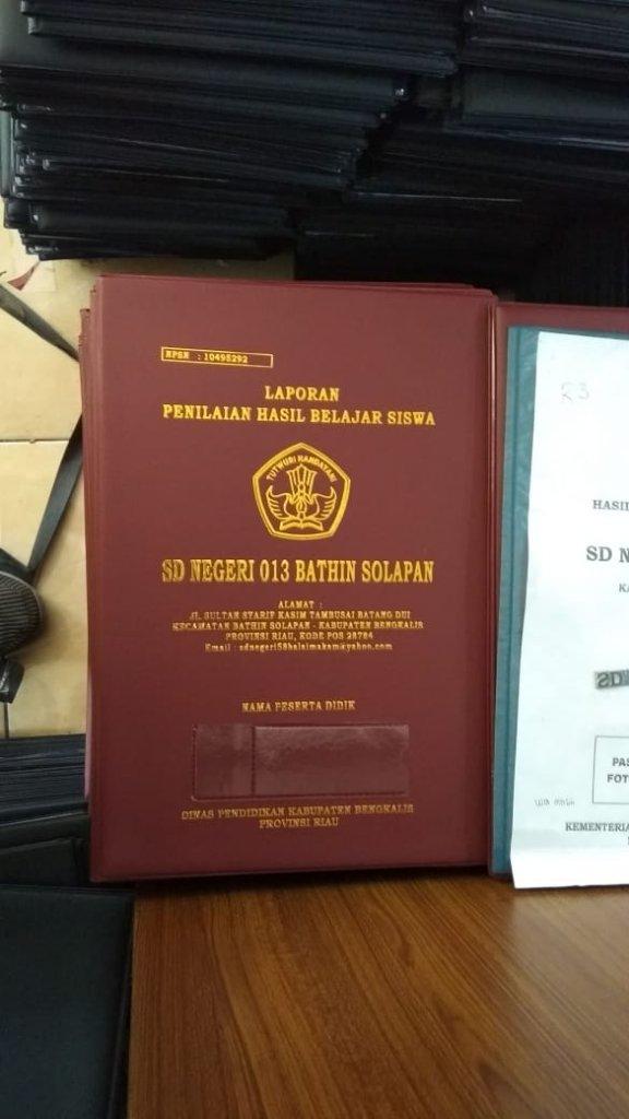 sampul Raport SDN 013 Bathin Solapan